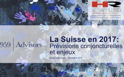 Présentation à HR-Vaud – Novembre 2016