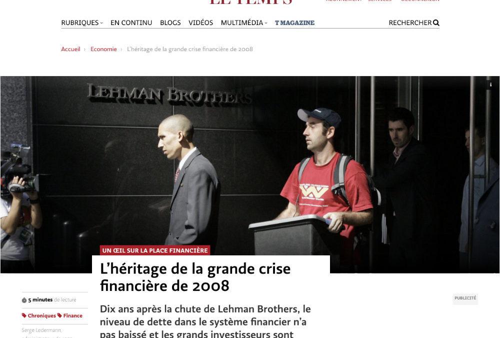 L'héritage de la grande crise financière de 2008