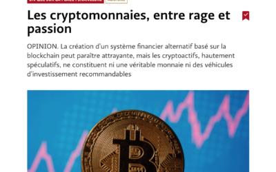 Les cryptomonnaies, entre rage et passion